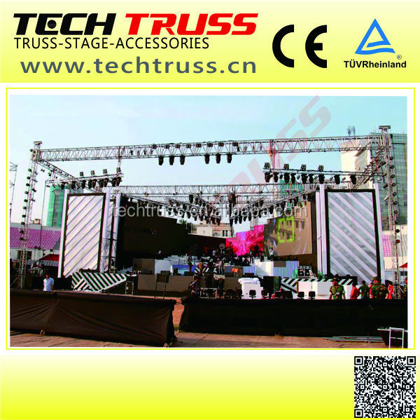 H145-RS30 ,Rectangle heavy duty truss tage lighting truss,speeker hanging truss for indoor or outdoor show