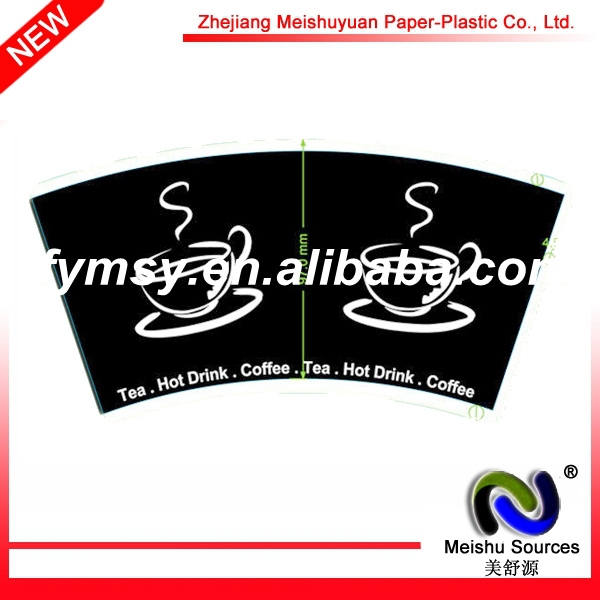 Coffee Paper Cup Body Fan With Flexo Printing