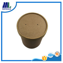 Custom printed disposable food grade hot kraft paper soup cup bowl