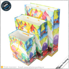 Fancy Ballon Printed Birthday Used Art Paper Gift Bag