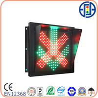 400x400mm LED Red Cross Green Arrow Stop Go Driveway Signal Light