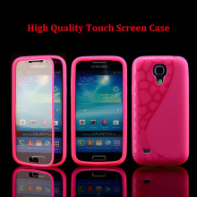Ultra Slim 2 in 1 Soft TPU Gel Touch Screen S Line Flip Girls Case for Samsung Galaxy S4 Mini I9190