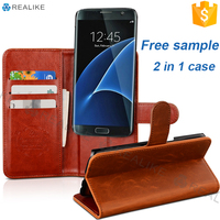 factory custom logo 2 in 1 detachable strong magnetic flip cover leather case for lenovo a7000