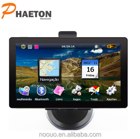 7'' inch TFT LCD gps navigation box headphone,SD,USB car gps/automatic navigator for car /sat nav