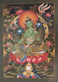 Beautiful Green Tara Thangka High Quality Tibetan Handmade in Nepal