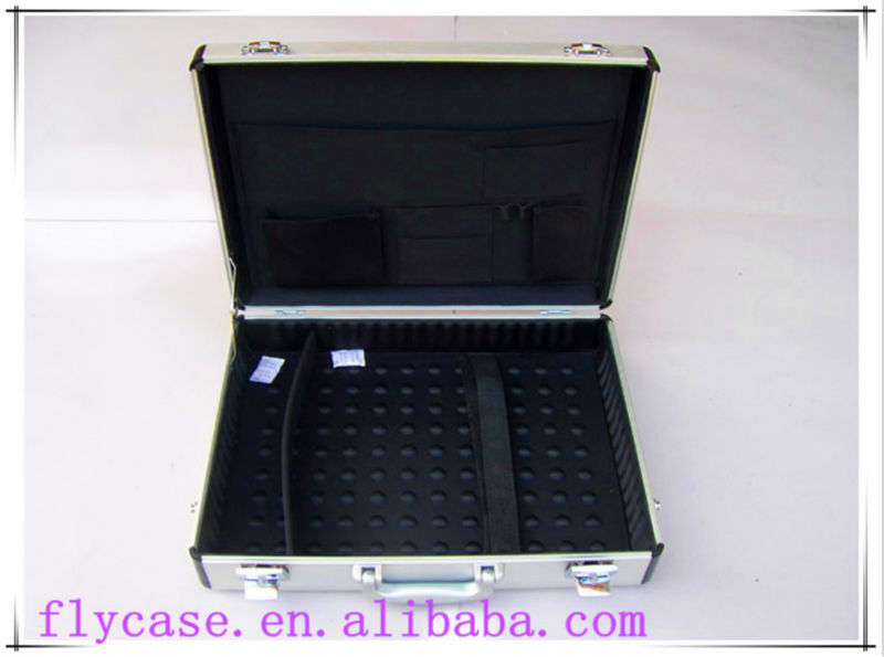2014 aluminum metal briefcase,portable tools box laptop case