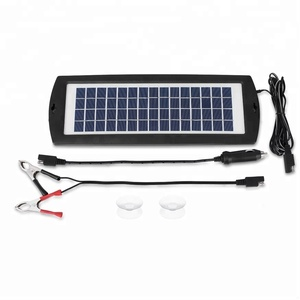 Car Battery Charger 12V Battery Trickle Charger Maintainer Solar Panel Power Charger Portable Backup For RV Motorcycle Boat Mari