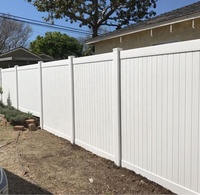 Top Quality 6x8 ft White Color Plastic PVC/Vinyl Cheap Panel Privacy Fence Panels for sale