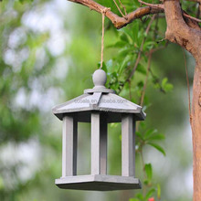 Decorative Wooden Birdhouse Cute Outdoor Victorian Cottage Box Wren Finch Home