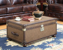Solid Wood Vintage Trunk Coffee Table ST061