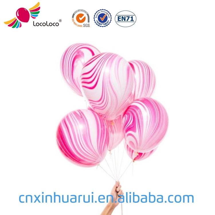 Atacado personalizado impresso festa de aniversário decoração balão de látex balão de hélio de mármore