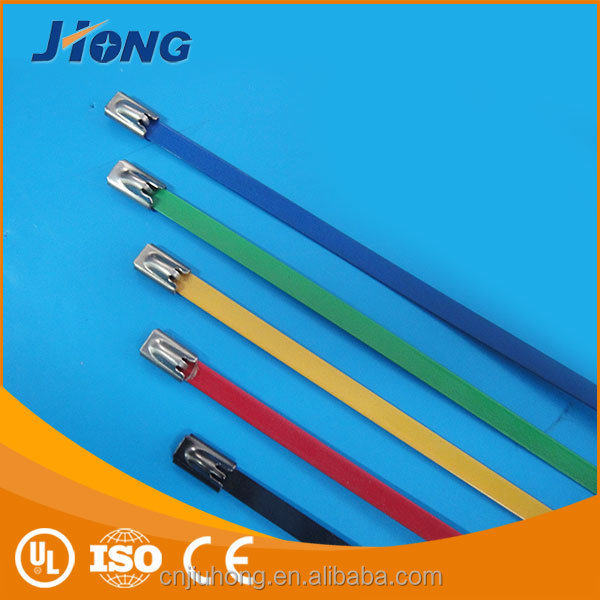 OEM/ODM High Quality Stainless Steel Epoxy Full Coated Cable Ties.Strap Tie