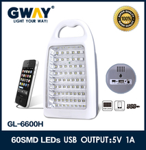 60pcs of 2835 SMD LED multi function emergency light with USB charger mobile,can equip with 12VDC