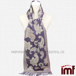 Winter Paisley 100% Cashmere Pashmina Scarf