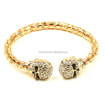 Hot selling new design bracelet, crystal skull bracelet, men women fashion bracelet