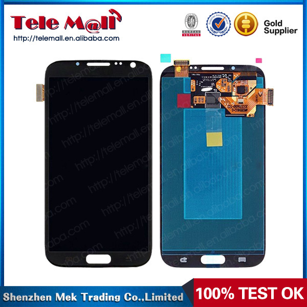 For Samsung Galaxy Note 2 II N7100 LCD Touch Screen Display Digitizer Assembly White Color