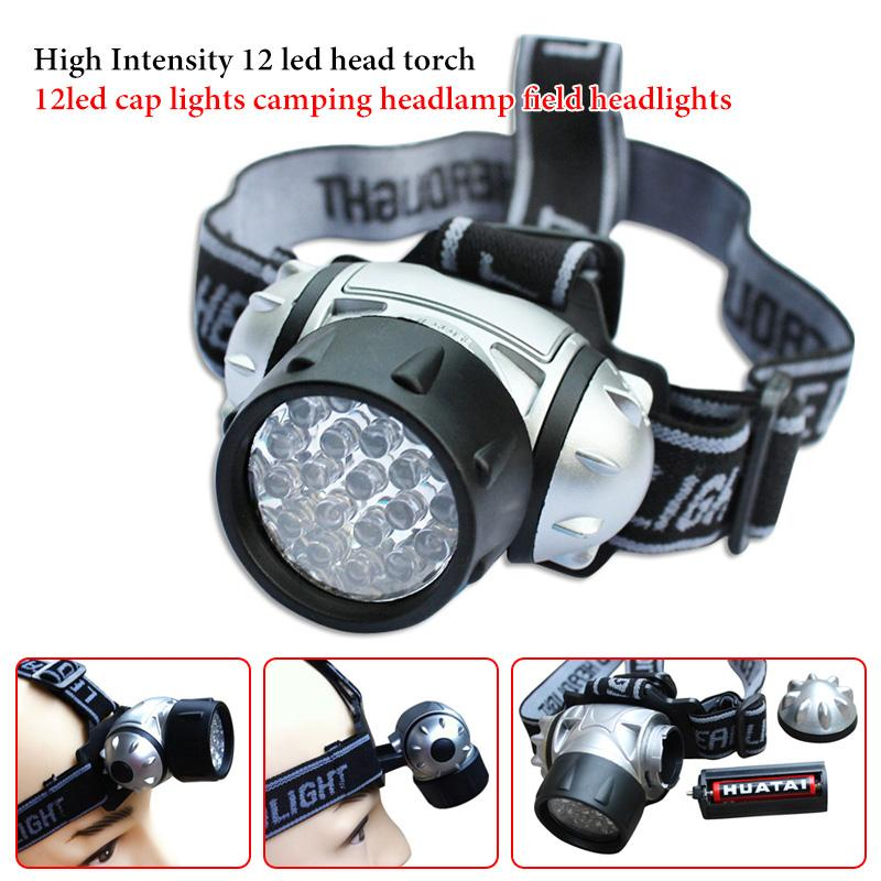 High Intensity outdoor 12 led head torch 12 LED cap lights camping LED Headlamp field LED Headlight
