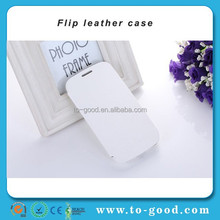 MOQ:500PCS!Wholesale Leather Stand Wallet Custom Cell Phone Cases Flip MOBILE PHONE CASE For Samsung Galaxy S3(White)