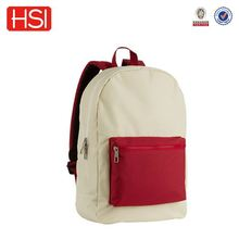 2016 wholesale price primary school students 600D polyester backpack