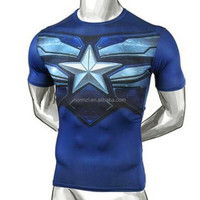 Top sale skin tight mens short sleeve t shirt
