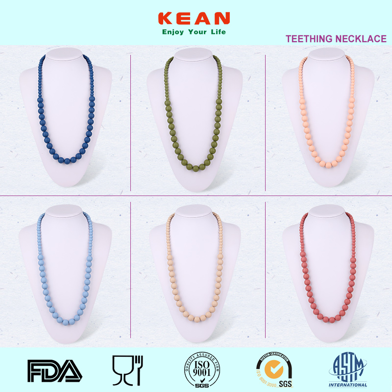 Rosary Raw Amber Silicone Fashion Beaded Necklace Factory Sale Free Shipping Chunky Fashion Necklace