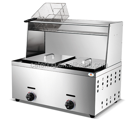 HGF-906 stainless steel lpg gas deep fryer hot sale