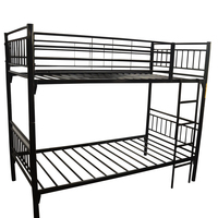 2018 Fast Delivery Cheap Price Simple Funky Adult Black Metal Steel Double Decker Bed For Kids