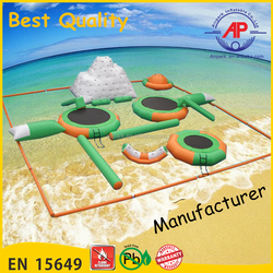 Guangzhou Airpark Ocean Inflatable Water Park In Sea , Ocean inflatable Aqua Park In Ocean