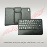 Portable Mini Wireless Bluetooth Keyboard with Leather Protector Case
