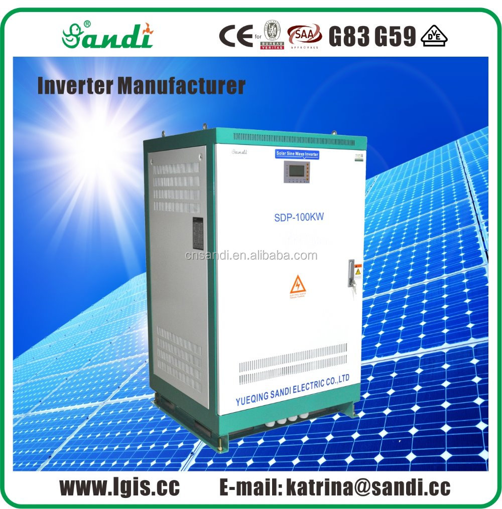 80KW Off Grid Inverter Pure Sine Wave with strong load capacity for induction motor use
