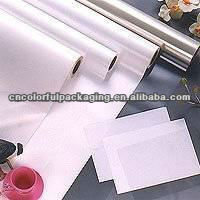 Not printed packaging roll film/White plastic lined foil film/Aluminum foil film for food packaging