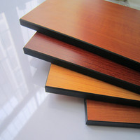 textured suface cherry wood color compact laminate board