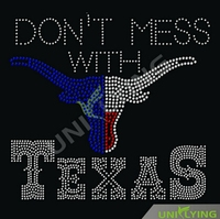 Texans rhinestone heat transfers wholesale design