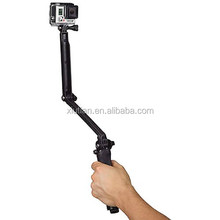 Newest 3-Way Monopod + Tripod + Grip Super Portable Magic Mount Selfie Stick for GPro Hero 4 3 3+ 2 1