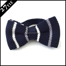 Wholesale cheap fashion polyester knitted bow ties for men