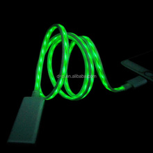 high quality glow in the dark innovative data charger cable visible led el flowing light usb cable