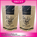 250g 500g 1kg aluminum foil stand up coffee resealable bag degassing valve