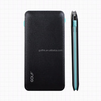 2016 Unique Design Golf -L5 Ultra Slim Mobile Portable Battery Charger, 5000mAh Micro charging Leather Power Bank With USB
