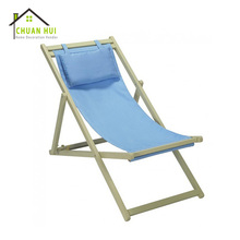 New design patio lounge wood beach fold relax deck chair