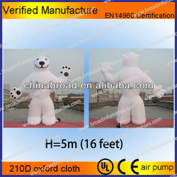 hot selling giant inflatable polar bear