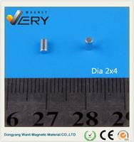 Hot selling high quality mmmDia2x4mm ndfeb n45 strong magnet neodymium magnet motor neodymium disc magnet with great price