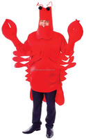 Top selling halloween sea world mascot easy wearing sea animal lobster costumes AGM2833