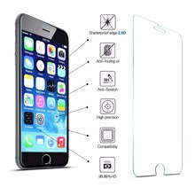 Tempered Glass Screen Protector 2.5D 9H Hardness For iPhone 7 Plus