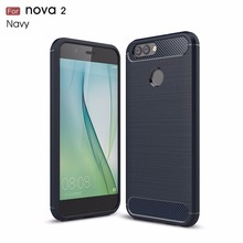 For Huawei Nova 2 Cover Case TPU Soft Phone Case Carbon Fiber Silicon Case For Huawei Nova 2 MT-6544