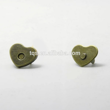 Hot Sale 14mm*2mm Clothing Small Magnetic Fasteners Decorative Heart Magnets Snap Buttons