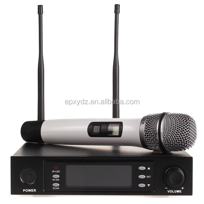 J.I.Y7800uhf mic fm karaoke system use enping digital wireless microphone