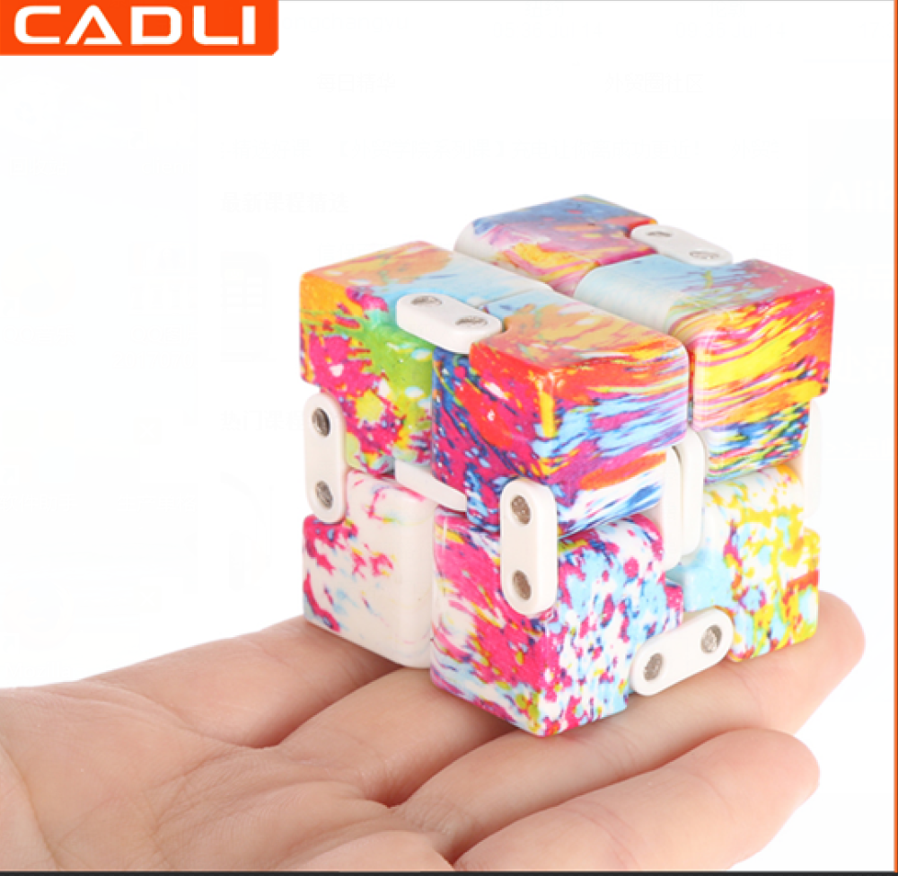 IF01B Promotional 3D Mini Stress Relief Folding Fidget Infinity Magic Cube Puzzle Square Toy Wholesale China