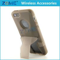 Wholesale New Products Slim Fit Clear Hard Plastic Mobile Phone Back Cover Cases with Kickstand for iPhone 5/5S