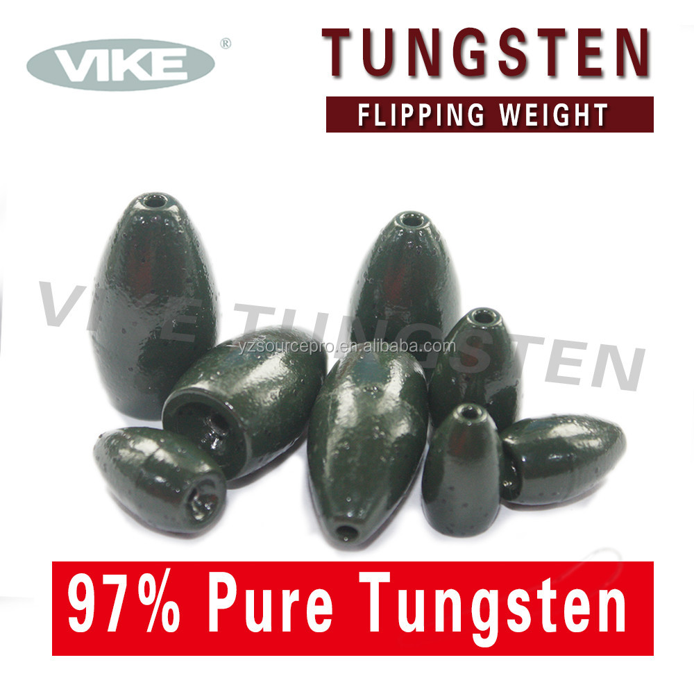 114TFW-WS fishing tungsten flipping weight 1-1/4 oz. (35.0g) watermelon seed color 1pk