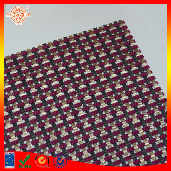 synthetic rattan weaving material plastic rattan cane raw material pvc mesh textile raw material